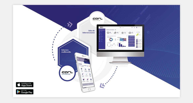 Processus application CARL XPRESS : Comptes-rendus d'interventions express.